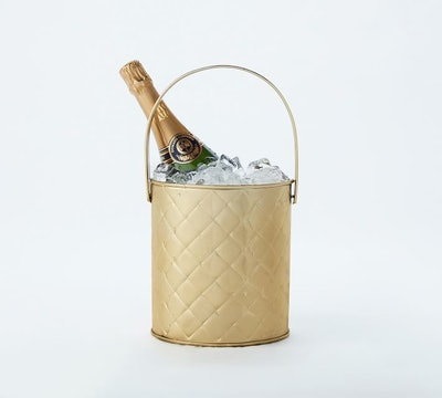 The Emily & Meritt Quilted Brass Champagne Ice Bucket