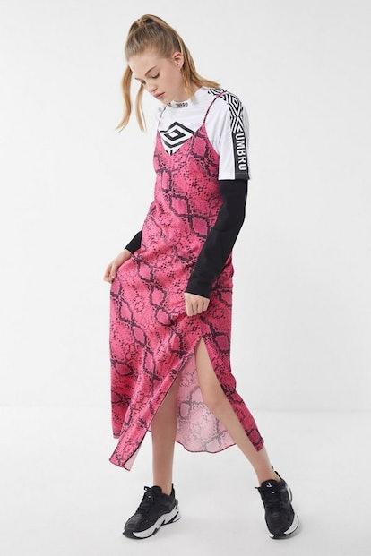 UO Snake Print Maxi Slip Dress