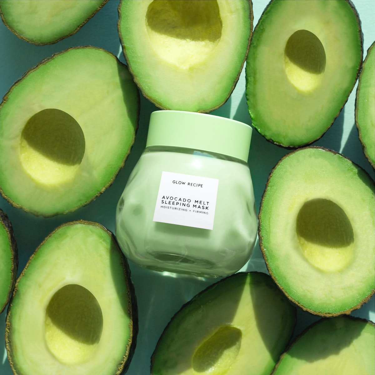 How to use a sleeping mask: The Glow Recipe mask contains avocado.