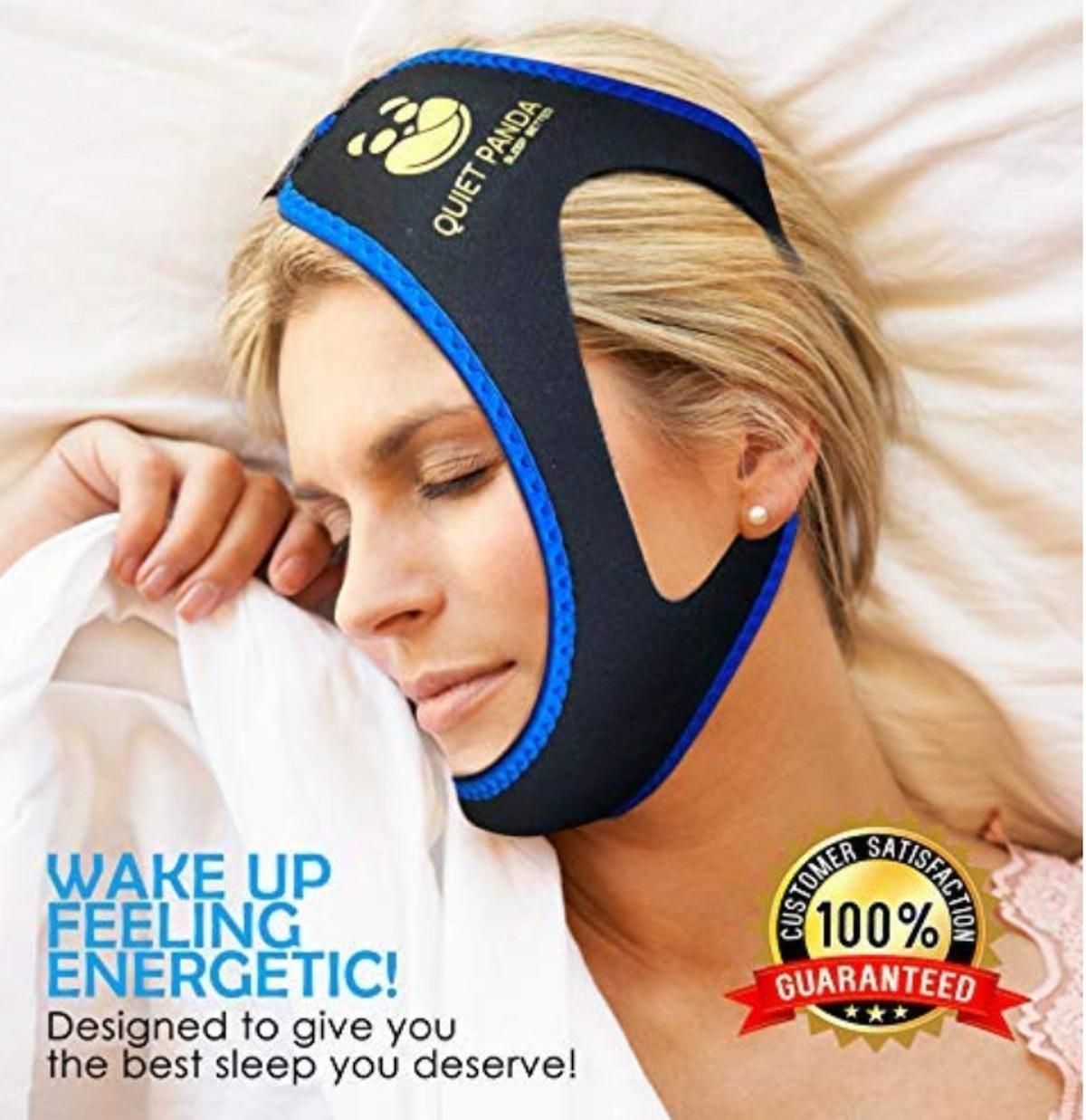 QUIET PANDA FIDGET. FOCUS. FUN. Anti-Snoring Chin Strap