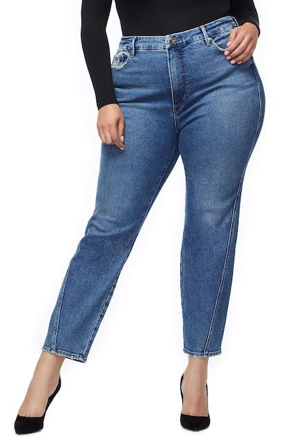 Twist Seam Crop Straight Leg Jeans