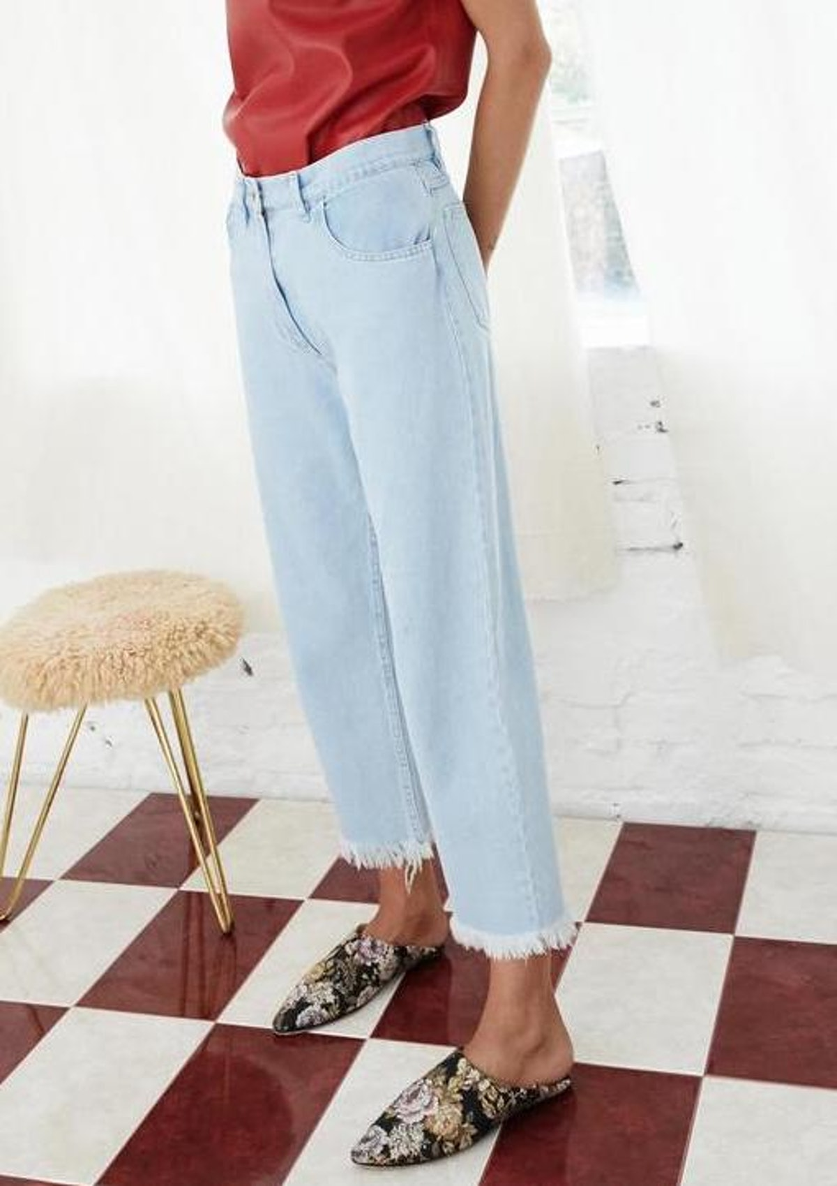 Rupa Cropped Jeans In Light Blue