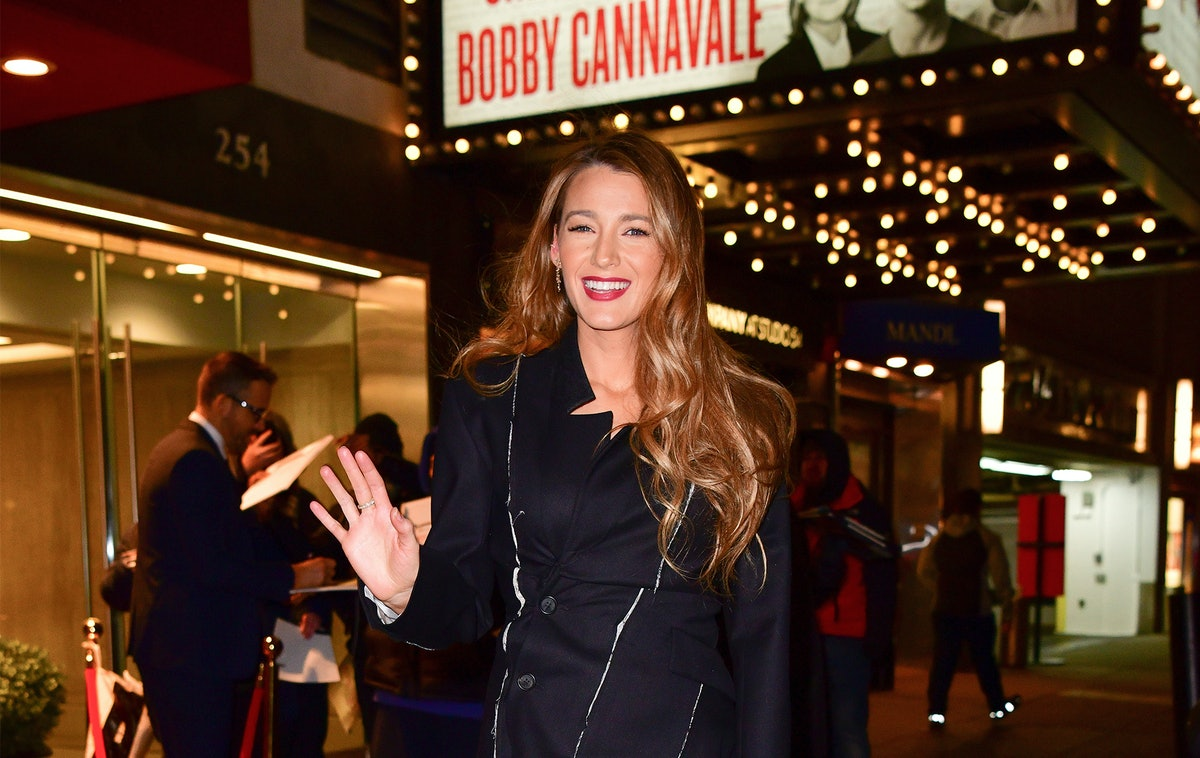 Blake Lively's Blazer Dress Is A Bold Approach To The Menswear Trend
