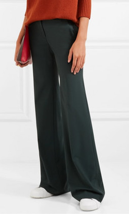 Wool-Blend Flared Pants
