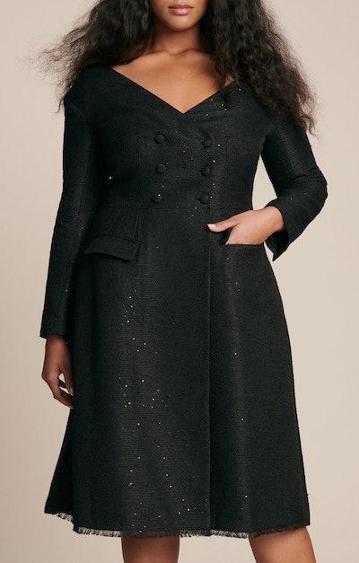 Open Neck Coat Dress