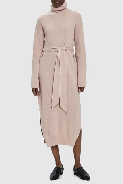 Canaan Turtleneck Knit Dress In Apple Blossom