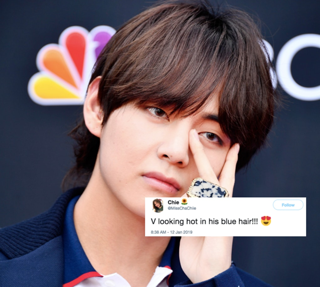 V From Bts New Blue Hair In Nagoya Has Fans Completely Freaking Out