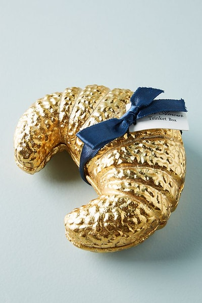 Gilded Treat Trinket Box, Croissant