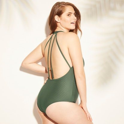 Women's Textured Strappy Back One Piece Swimsuit - Kona Sol