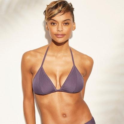 Women's Ribbed Triangle Bikini Top - Kona Sol