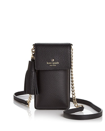 kate spade new york North/South Pebbled Leather iPhone Crossbody