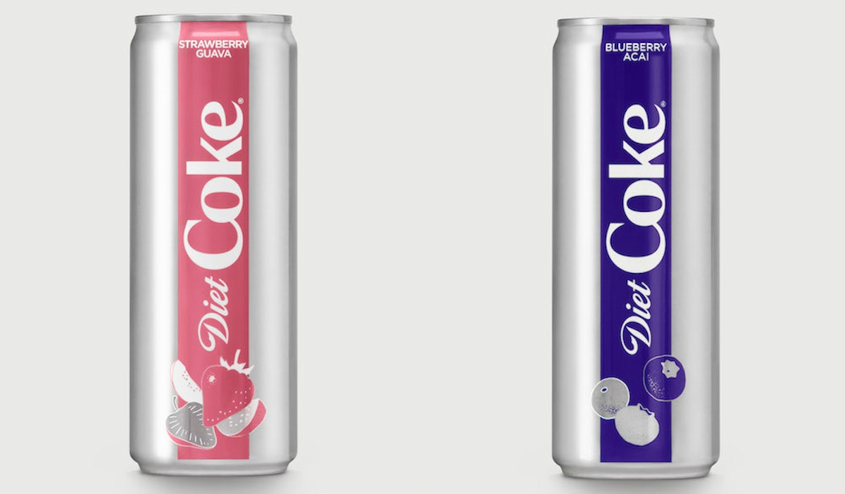 Diet Coke's New Strawberry Guava & Blueberry Acai Flavors Sound So Refreshing