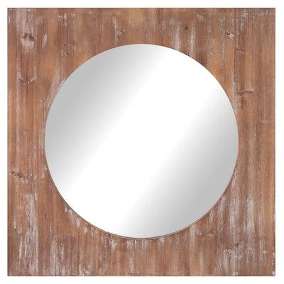 Nielsen Bainbridge Round Distressed Reclaimed Wood Mirror