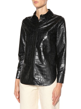 Naum Faux Leather Shirt