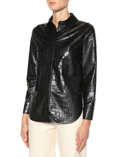 Naum Faux Leather Shirt