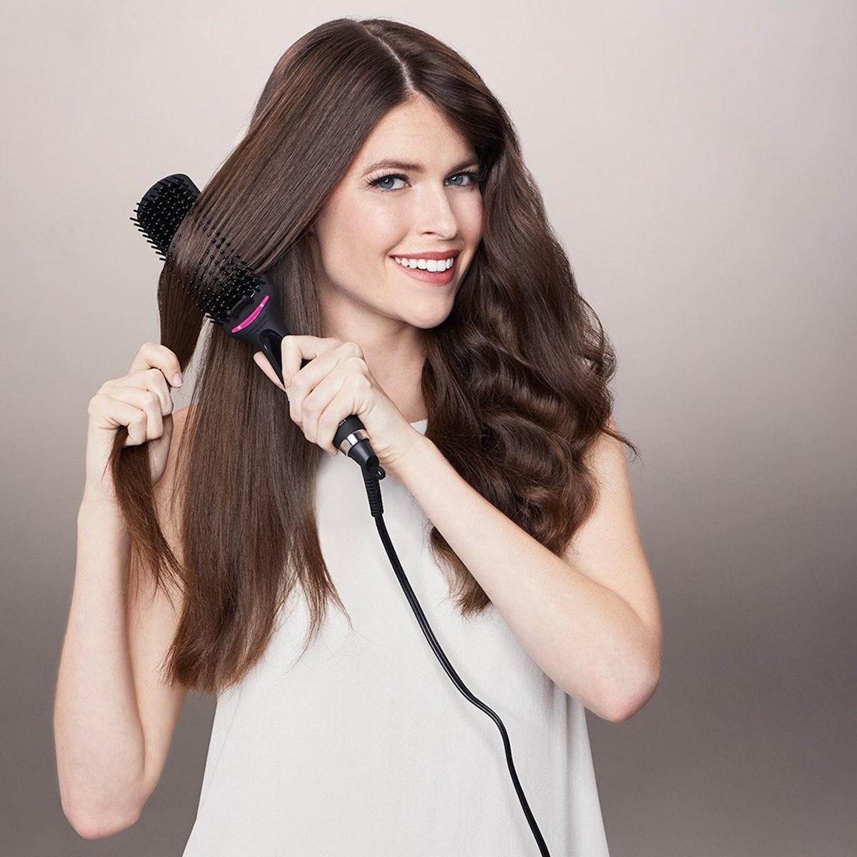 One Step Hair Straightening Brush