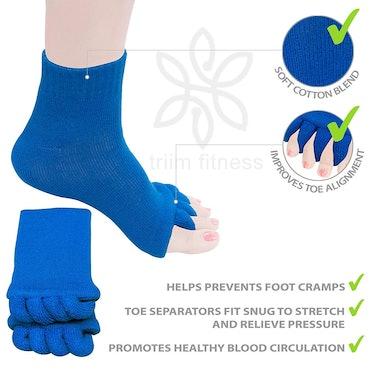Triim Toe Separator Socks
