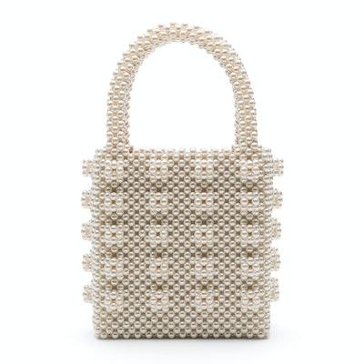 Antonia Beaded Cream Bag
