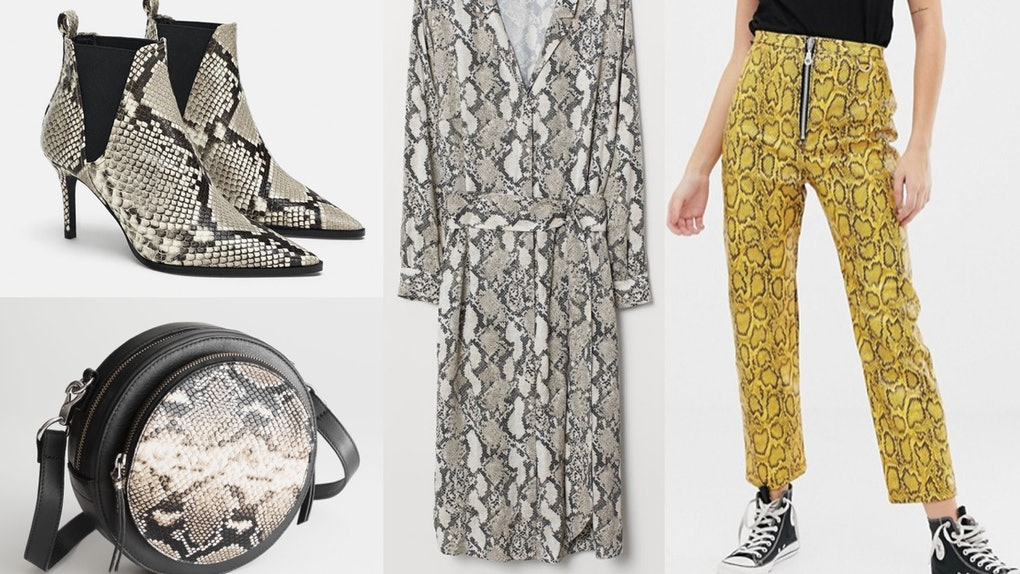 28a65fd2c24f The 2019 Snakeskin Trend Will Definitely Slither Into Your Closet With  These 17 Picks
