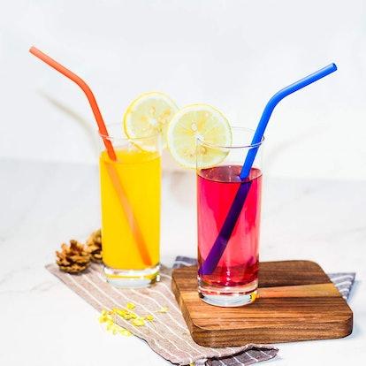 LIFNY Silicone Straws (12 Pack)