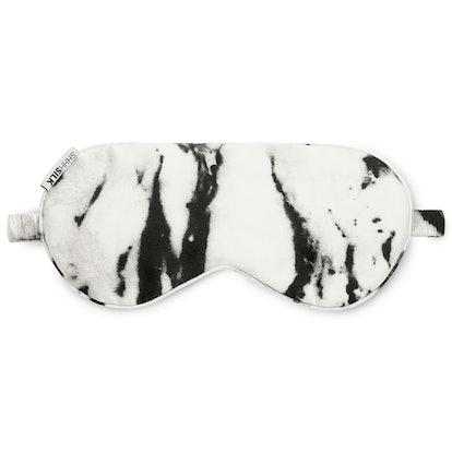 White Marble Silk Eye Mask