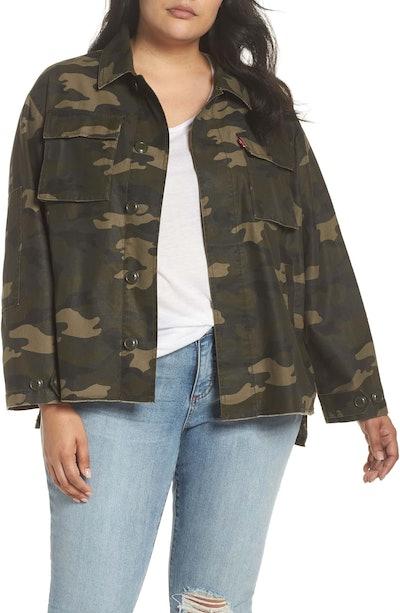High/Low Shirt Jacket