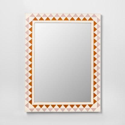 Pieced Triangle Frame Decorative Wall Mirror