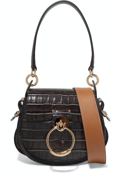 Tess Croc-Effect Shoulder Bag