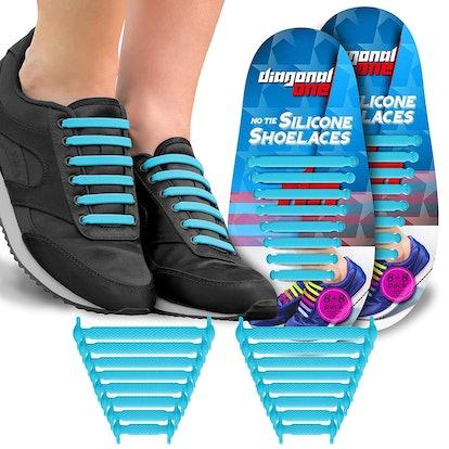 Diagonal One No Tie Shoelaces