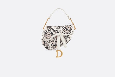 Embroidered Mini Saddle Bag