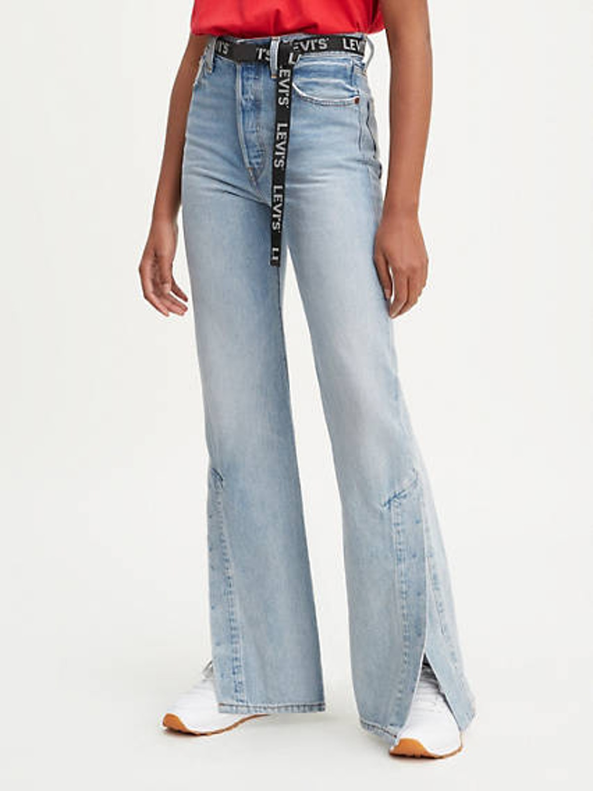 Ribcage Split Flare Jeans in Dazed And Confused
