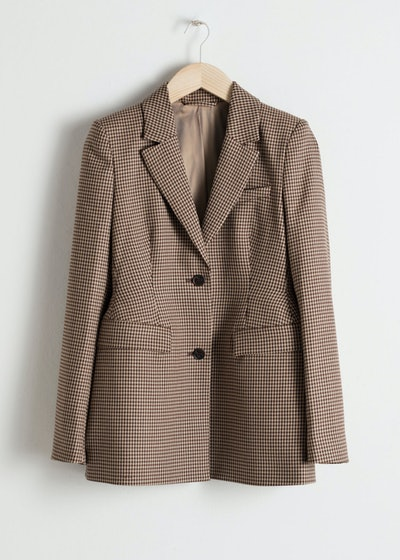 & other stories Hourglass Houndstooth Blazer