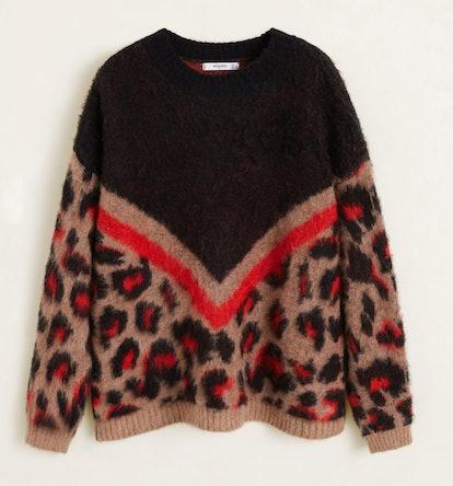 Leopard texture sweater