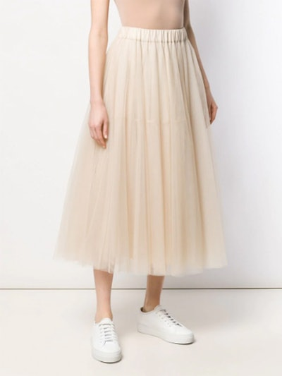 Flared Tulle Skirt