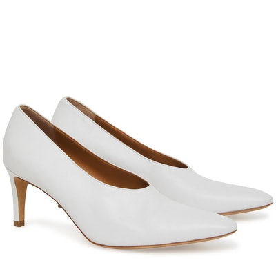 Lamb Pointy Heel in White