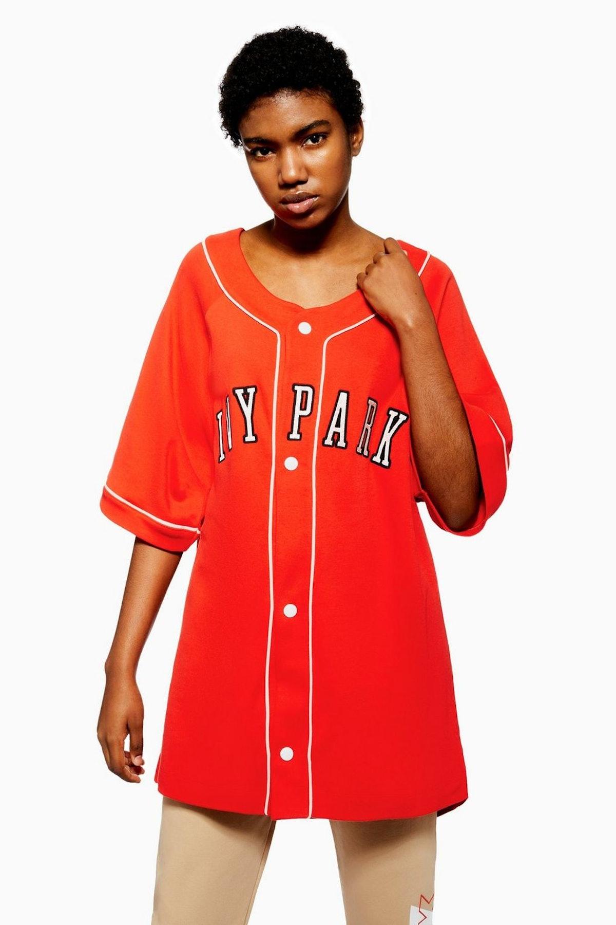 Topshop Baseball Logo Oversized T-Shirt by Ivy Park