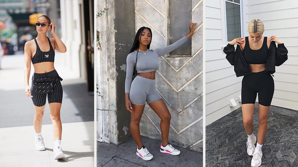 5c604a7aa102 The Biker Shorts Trend Is Here To Stay For 2019, & Celebs On Instagram  Can't Get Enough