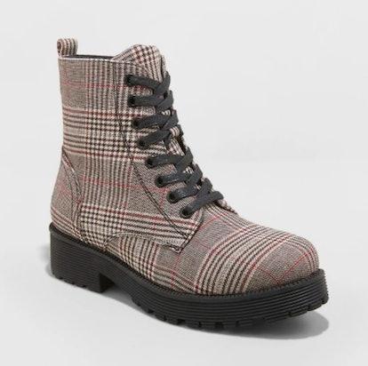 Wild Fable Dayton Plaid Combat Boots