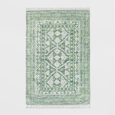 Threshold™- Green Patterned Woven Area Rug