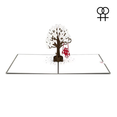 Two Girls On A Swing Greeting Card