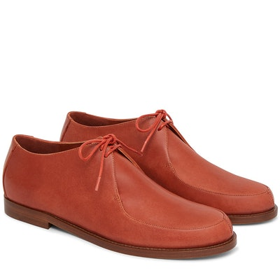Vegetable Tanned Lace Up Oxford in Brandy