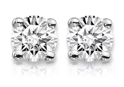 One carat lab-grown diamond studs