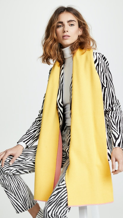 Reversible Double Jaquard Wool Scarf