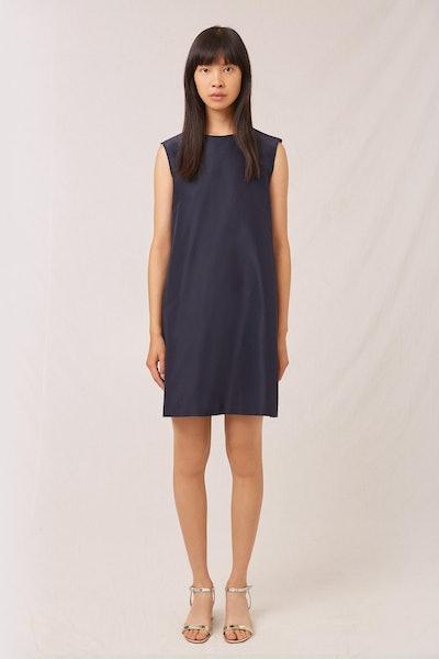 Taffeta Mini Dress in Blu