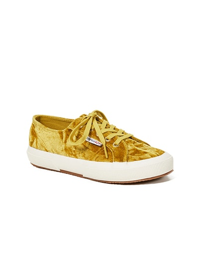 2750 Crushed Velvet Lace Up Sneakers