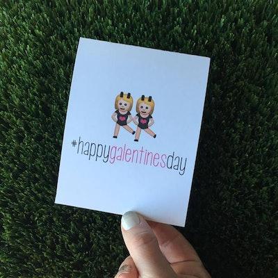 Happy Galentine's Day Emoji Card