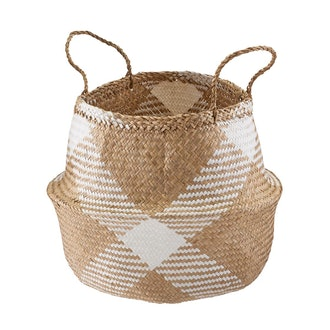 X-Large Diamonds Seagrass Belly Basket