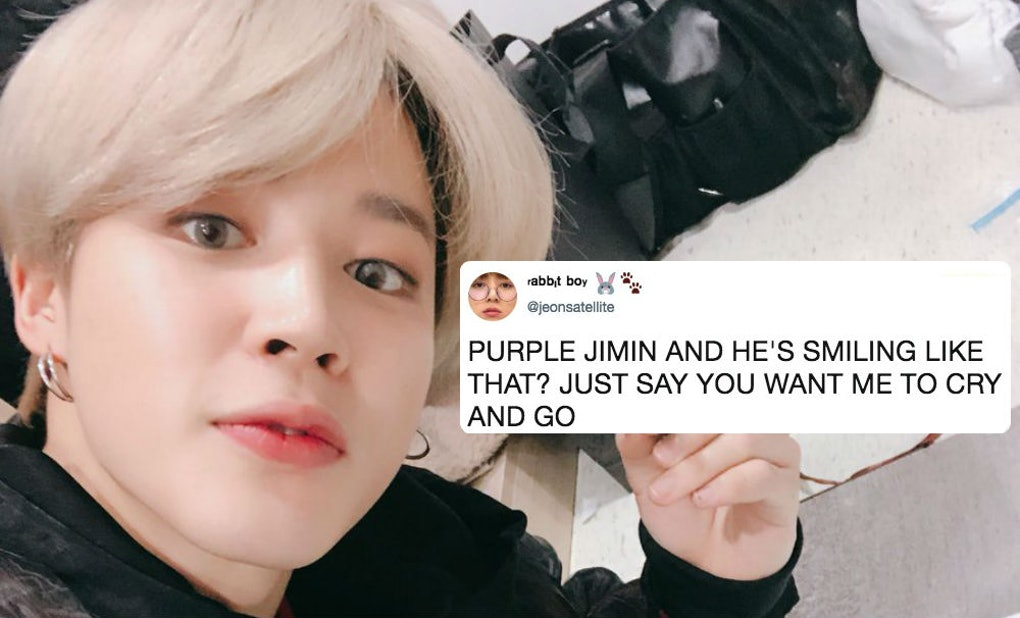 Jimin From Bts New Purple Hair At The Smas Takes I Purple You To