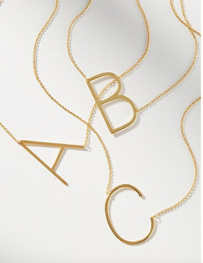 Block Letter Monogram Necklace
