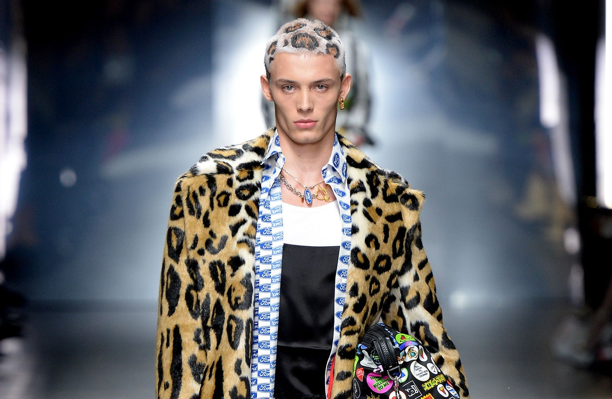 Versace's Leopard Print Hair Is Breaking The Internet & It's 2005 MySpace Hair All Over Again